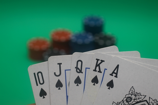 Poker Hand - Spades Straight Flush
